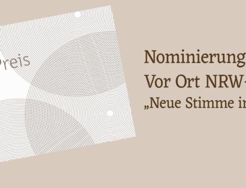 """""""Vor Ort NRW-Preis"""" für lokalen Online-Journalismus"""