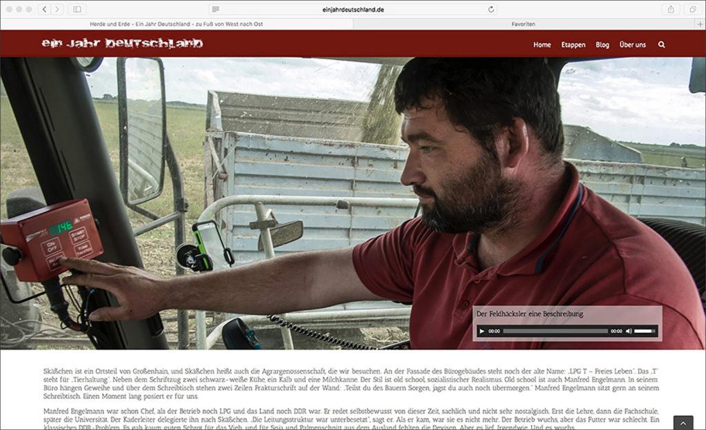 Ein Jahr Deutschland - zu Fuß von West nach Ost Fotos: Dirk Gebhardt Multimedia Reportagen im 25. Jahr der Wiedervereinigung Text: Jörg-Christian Schillmöller